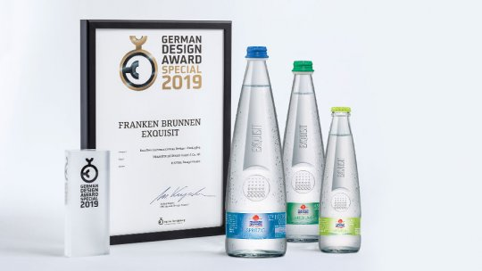 German Design Award für Franken Brunnen Exquisit von Wiegand-Glas
